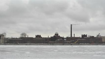St.Petersburg. Prison on the Neva river embankment _3 Time lapse