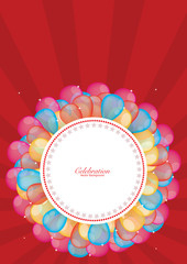 Balloons Banner Background  for Decoration