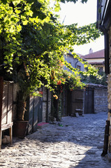 Street of the old town of Nesebar in Bulgaria