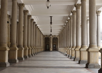 Classical style colonnade, Karlovy Vary