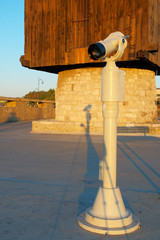 The telescope about a mill at an entrance to Nessebar, Bulgaria