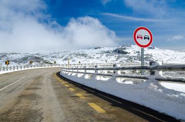 Overtake Forbidden Sign