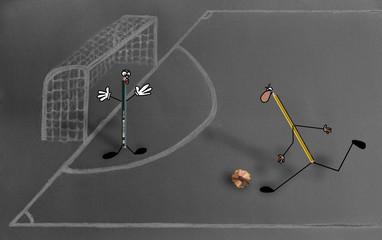 Lapiceros jugando un partido