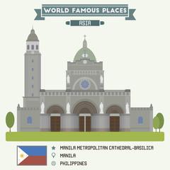 Manila Metropolitan Cathedral-Basilica. Manila, Philippines