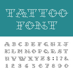Alphabet - Vector Font in Tattoo style