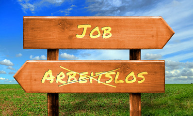 Strassenschild 33 - Job