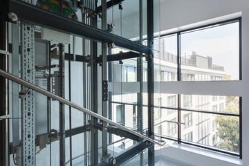 Modern lift in business office