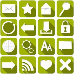 Internet Icons Sammlung