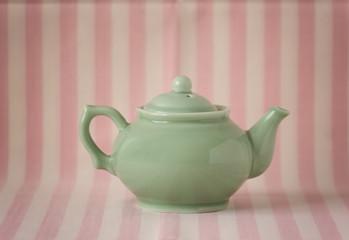 Vintage little green teapot