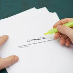 Marking words in a communism definition