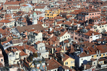 Houses of Venice ITALY from St Mark's Campanile