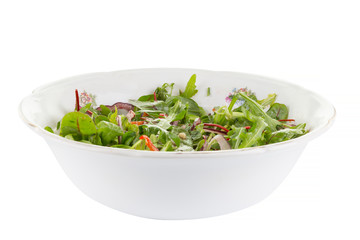 salad with arugula and red pepper