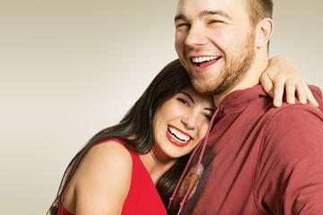 Счастливая пара. Мужчина и женщина.