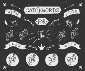 Hand Drawn Chalkboard Catchwords