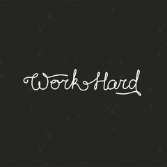 Vector hand lettering - work hard
