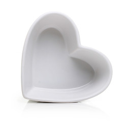 Heart shape plate isolated