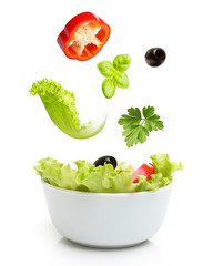 Vegetable salad in bowl