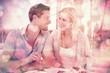 Zdjęcia na płótnie, fototapety, obrazy : Hip young couple having desert together