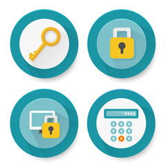 Set of flat protection icons