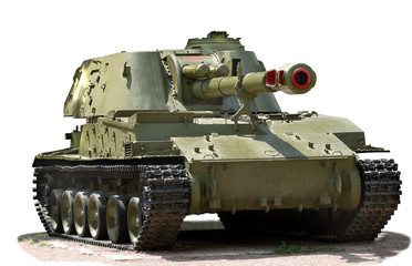 Soviet self-propelled howitzer
