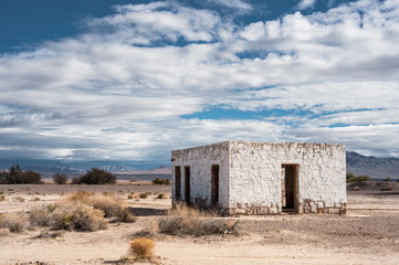 An old abandoned stone building in Death Valley