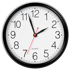 Classic round wall clock isolated on white
