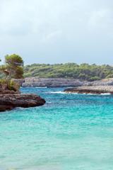 Beautiful wild tropical coast. Mediterranean sea landscape.