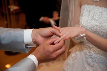 結婚指輪交換