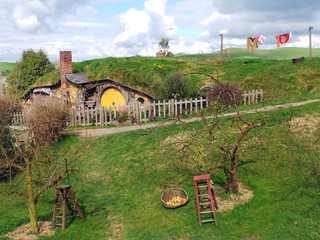 Hobbit Sam Gamgee's Home, Hobbiton, New Zealand