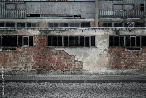 Grunge empty industrial background - 77938595