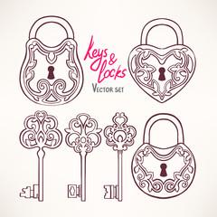retro keys and locks