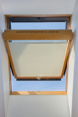 open window on the roof