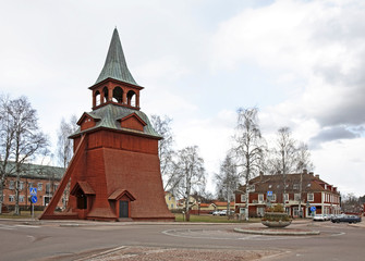 Belfry of the church of the Archangel Michael in Mora. Sweden