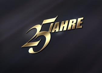 25 Jahre  - Gold - B