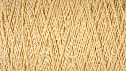 Spool of beige thread macro background