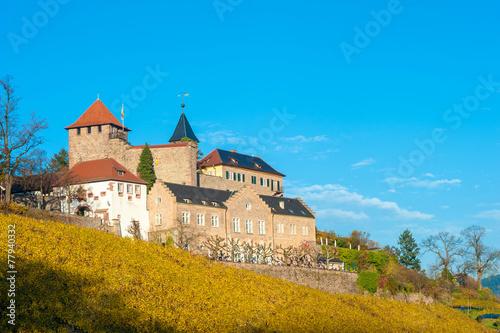Leinwanddruck Bild Schloss Eberstein, Gernsbach Obertsrot, Schwarzwald, Baden-Würt