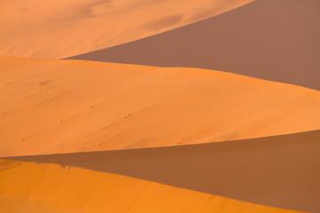 Shadows cast in sand, Sossusvlei