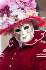 Beautiful Venetian masked Model