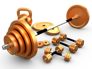 The equipment for weightlifting, 3D