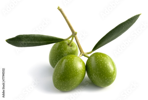 Papiers peints Fruit three raw olives