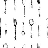 cutlery set 3 seamless pattern