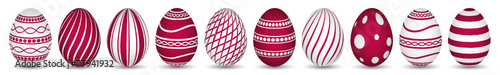10 easter eggs in red - 77941932