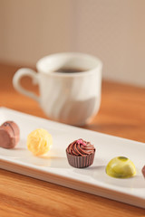 デザートのチョコレート