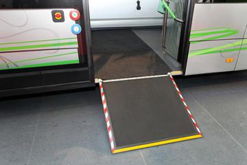 Disabled bus door