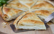 Tiropita - Greek pie made of Filo dough with cheese - 77942915