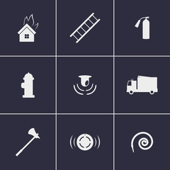 Firefighters icons