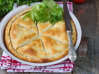Tiropita - Greek pie made of Filo dough with cheese