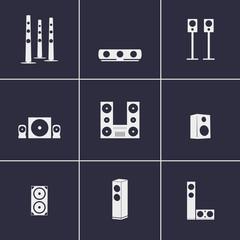 Loudspeakers icons