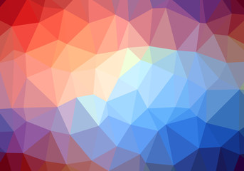Modern Colorful Abstract Vector Retro Triangle Background