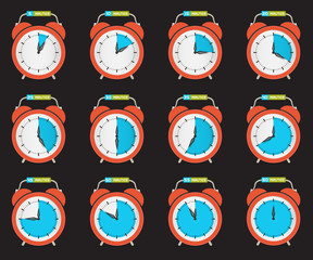 Alarm Clock - Time Countdown Vector Set